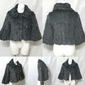 Forever 21 Shimmery Faux Fur Swing Coat Large